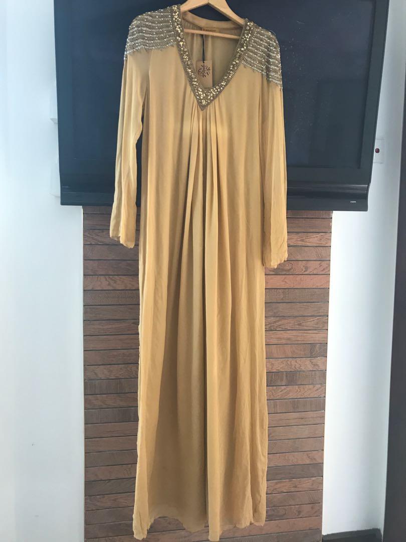 22e0b6902053 Bejewelled silk chiffon Kaftan (Farah Khan)