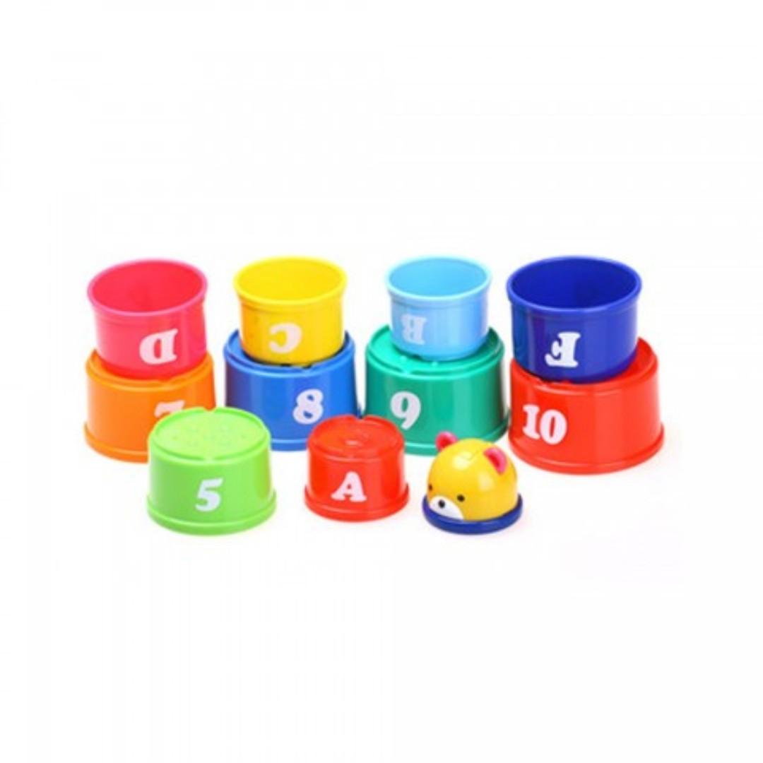 Blove 日本 Toyroyal 嬰兒 益智玩具 積木 疊疊樂 疊疊杯 套杯 層層疊 音樂疊疊杯 #TOY05