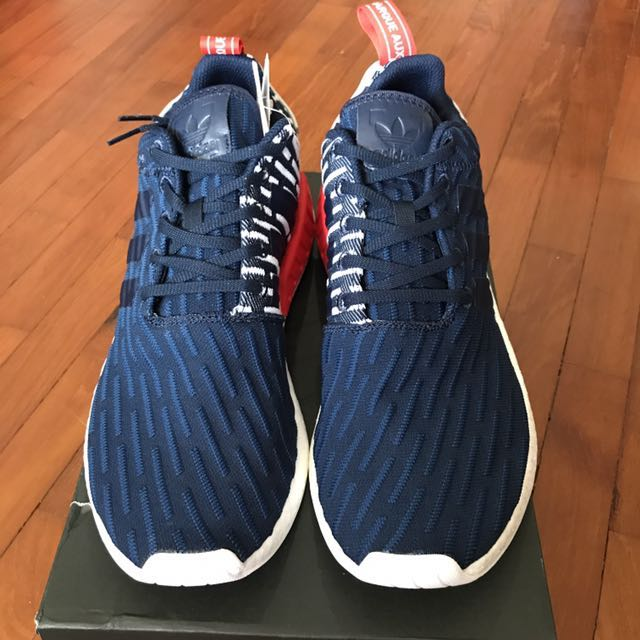 4962e4d01 BNIB Authentic Adidas NMD R2 PK red white blue BB2952 UK10 US10.5 ...