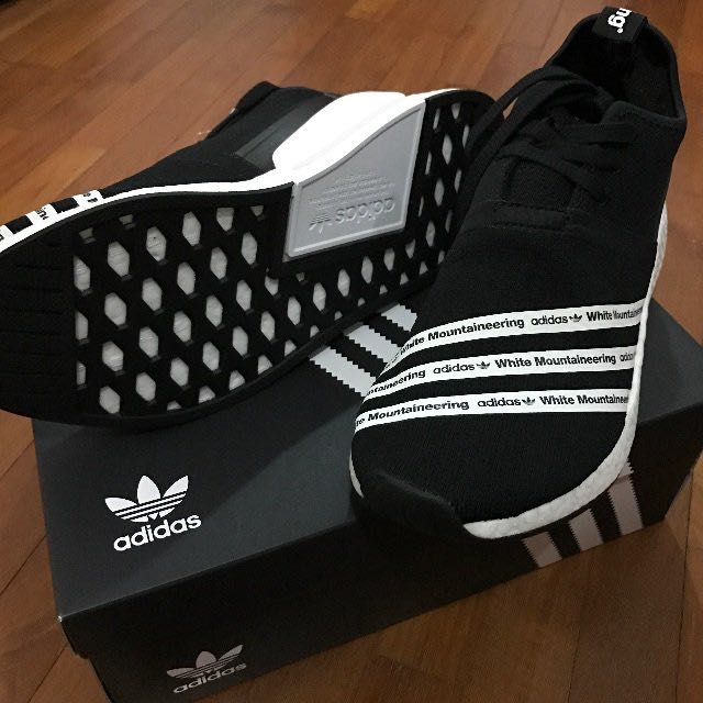 df17d6b74d040 BNIB Authentic Adidas NMD R2 PK White Mountaineering black BB2978 ...