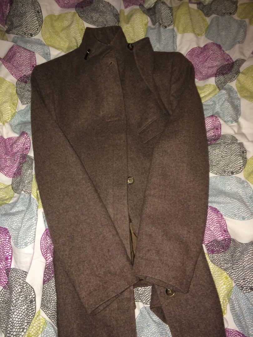Brown Vintage Army Peacoat