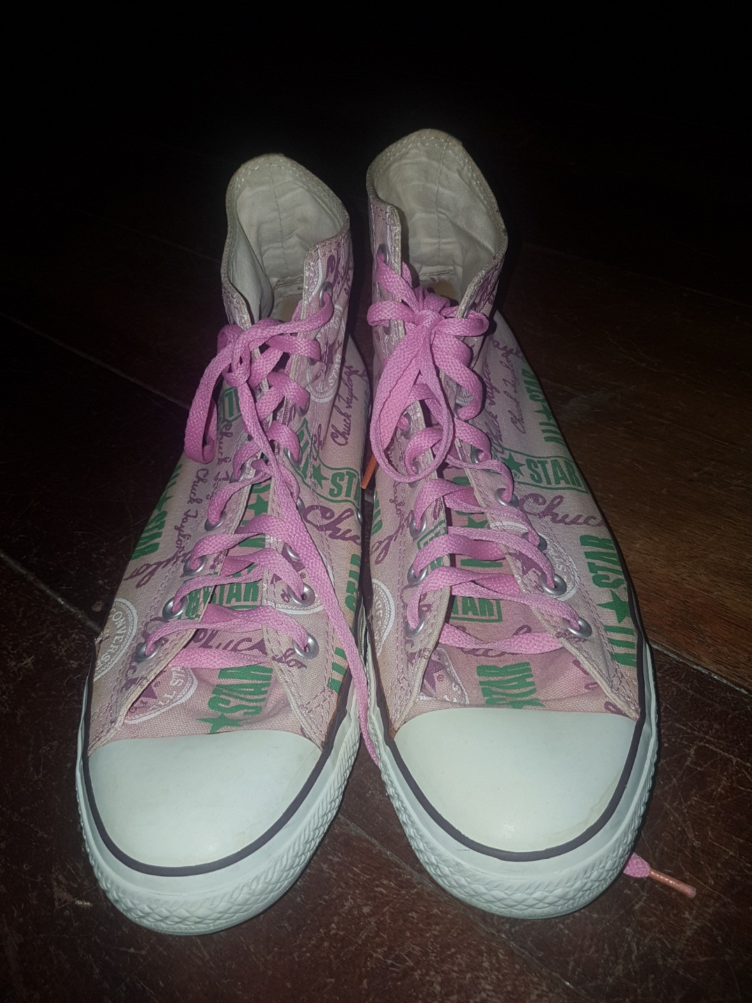 853b0281d1623d Converse Chuck Taylor All Star Pink with text design