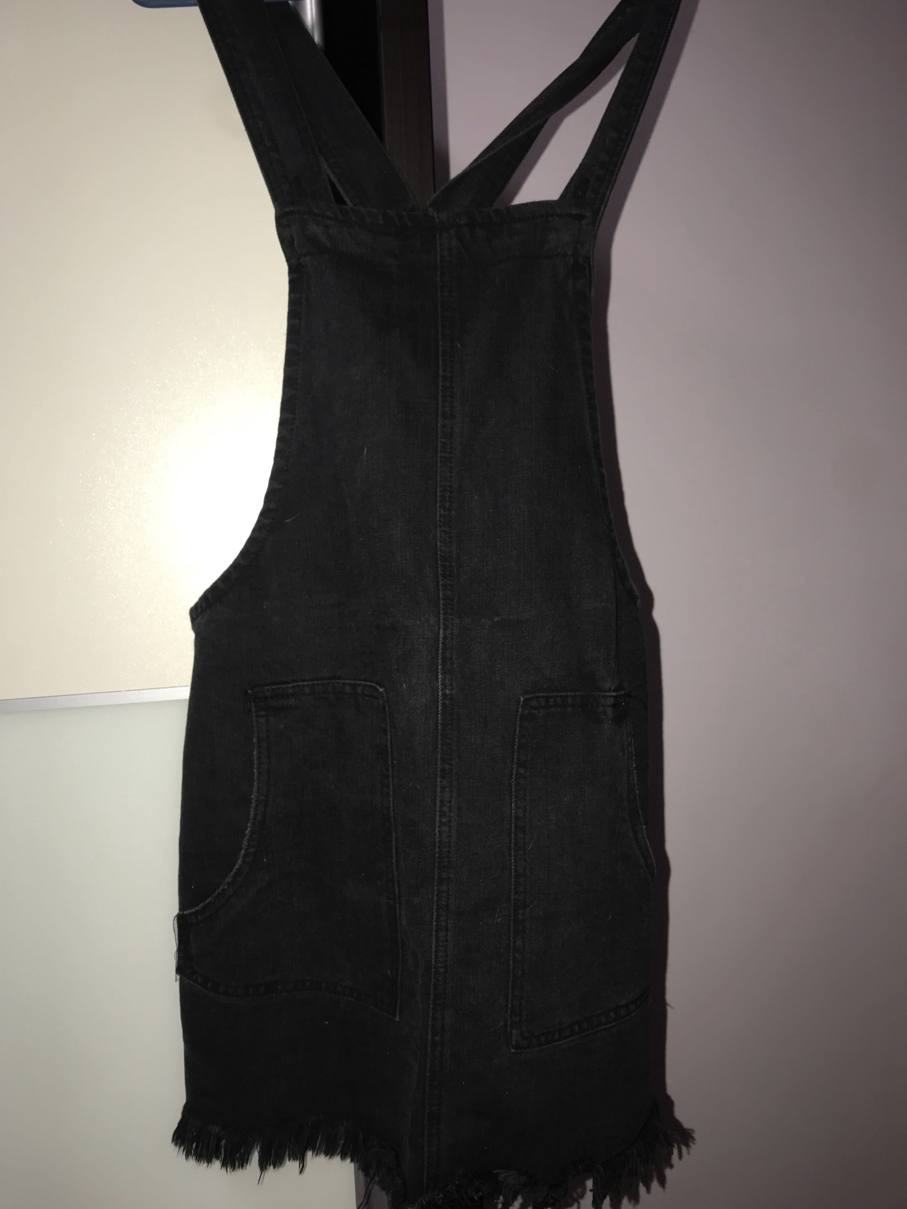 c11325a457f Cotton On Black Overall Dungaree Dress