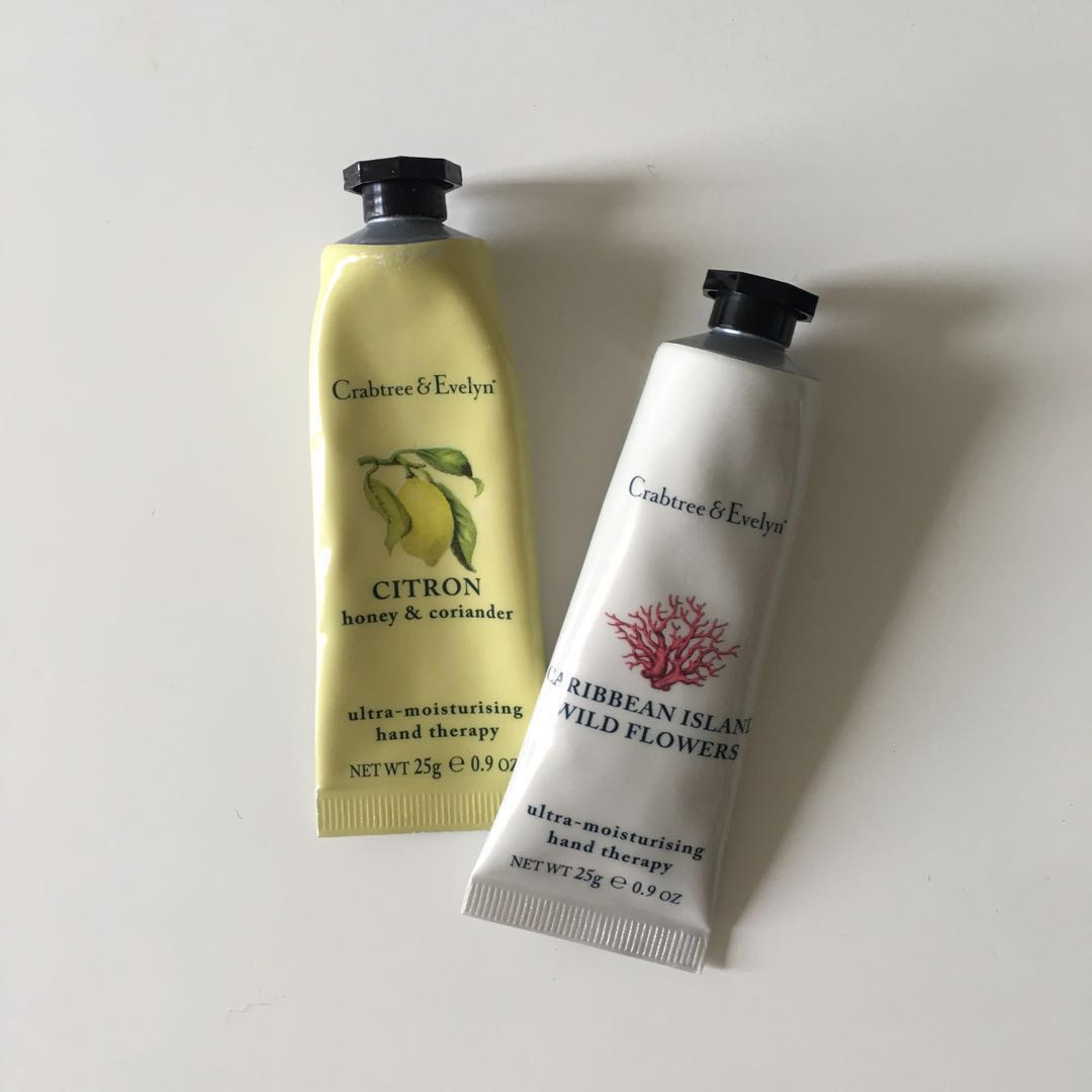 Crabtree & Evelyn hand cream small size x2