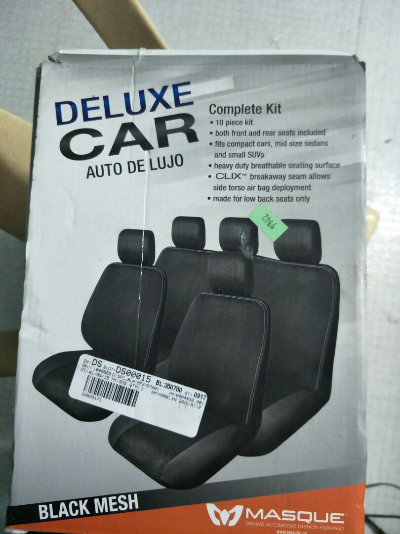 Deluxe car seat cover