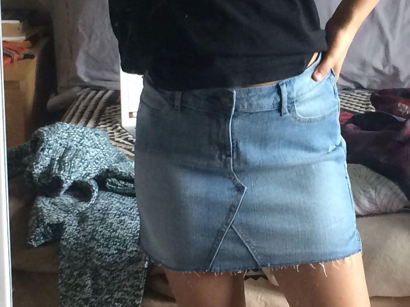 Denim Jean Mini Skirt