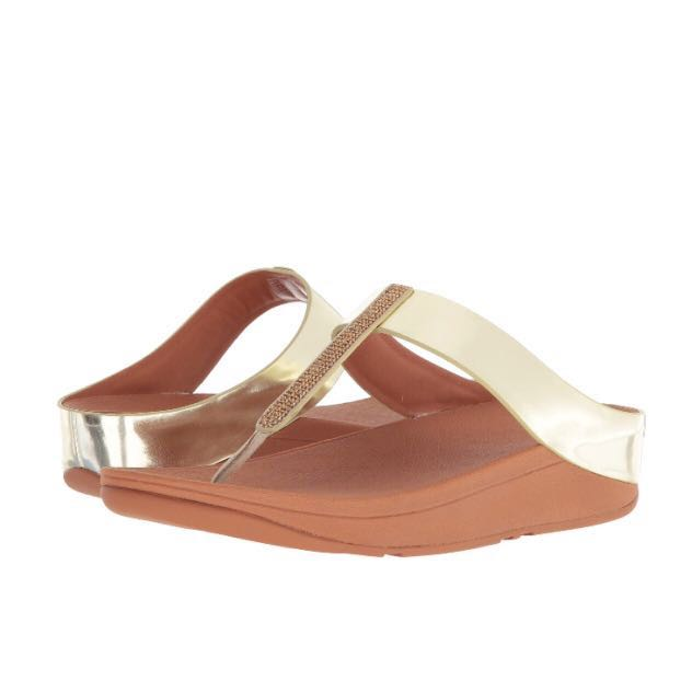 93f9982d9 FitFlop Fino Crystal Toe-Thong Sandals