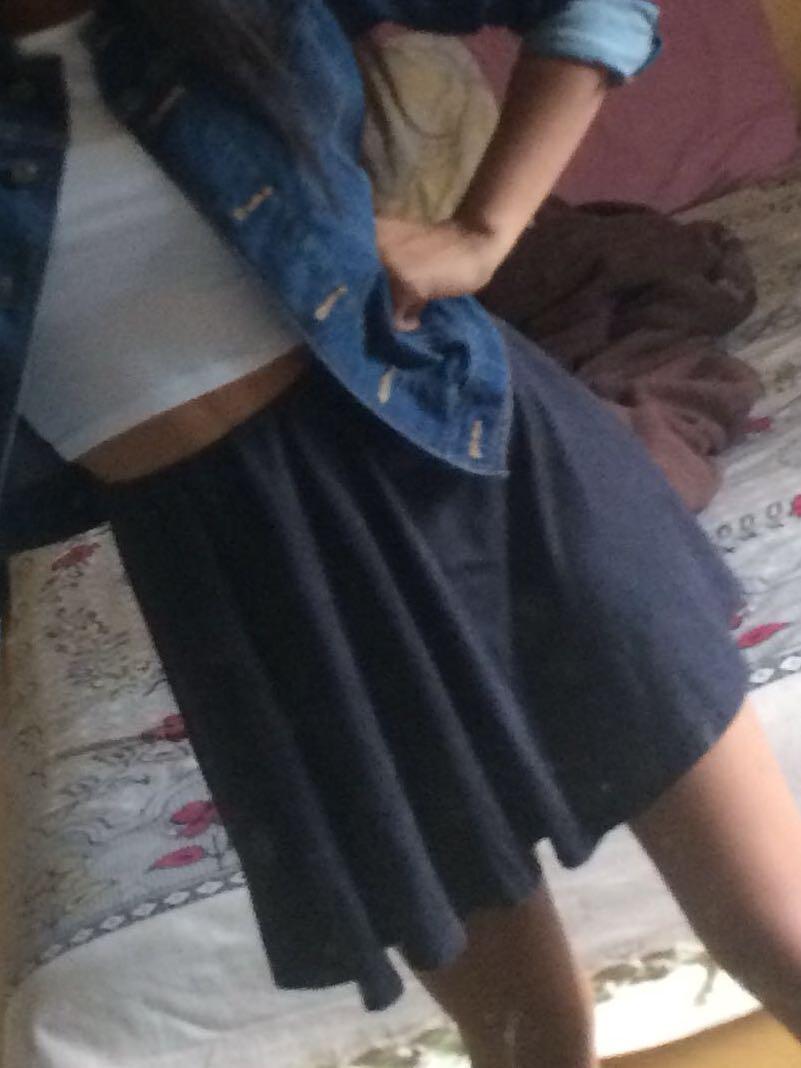 Gray Mini Skirt