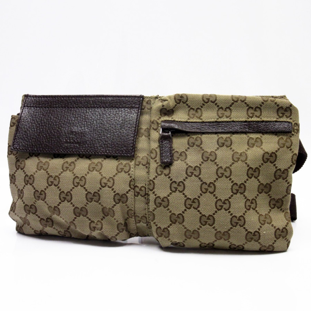 591d239cc GUCCI waist pouch GG beige x brown canvas x leather women's men (SHIP FROM  JAPAN), Women's Fashion, Bags & Wallets on Carousell