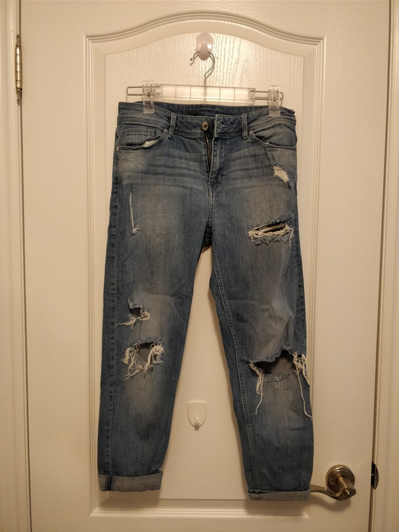 H&M Ripped Jeans (US 6/Boyfriend Fit)