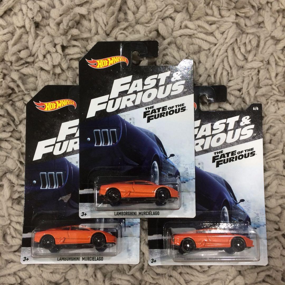 Hotwheels Fast Furious Lamborghini Toys Games Diecast Toy