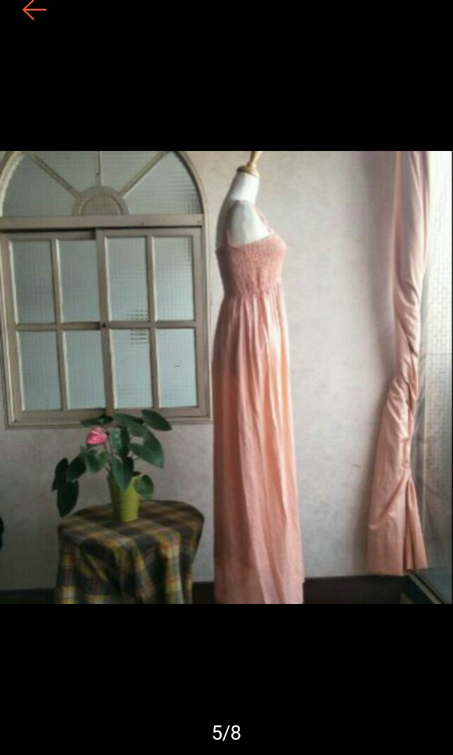 IROO 粉紅色飄逸浪漫長裙
