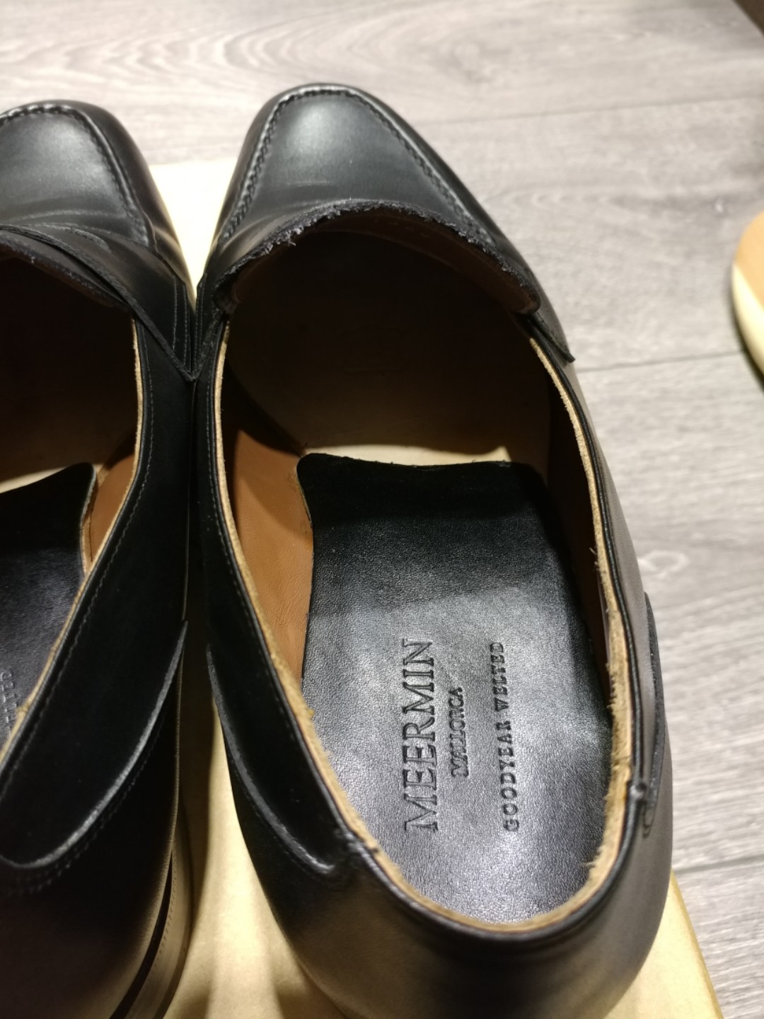 5364a67fe05 Meermin Black Calf Loafers UK7.5E Worn Once