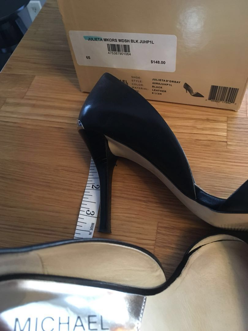 "Michael Kors Black 3.5"" heels"