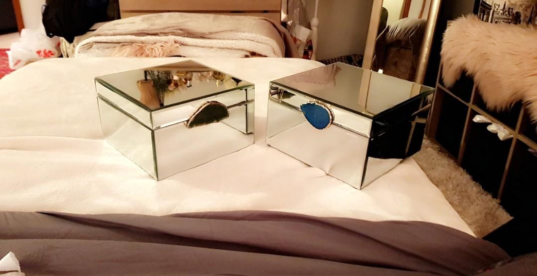 Mirror Jewellery box x2