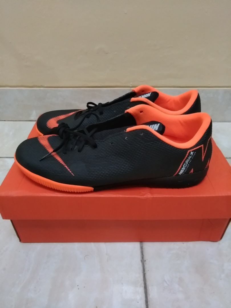 Nike Mercurial VaporX XII Academy IC - Black Total Orange White ... aec62c88ae