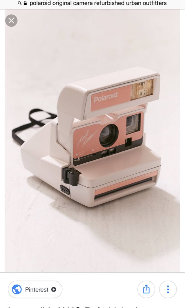 Old refurbished polaroid camera from urban outfitters