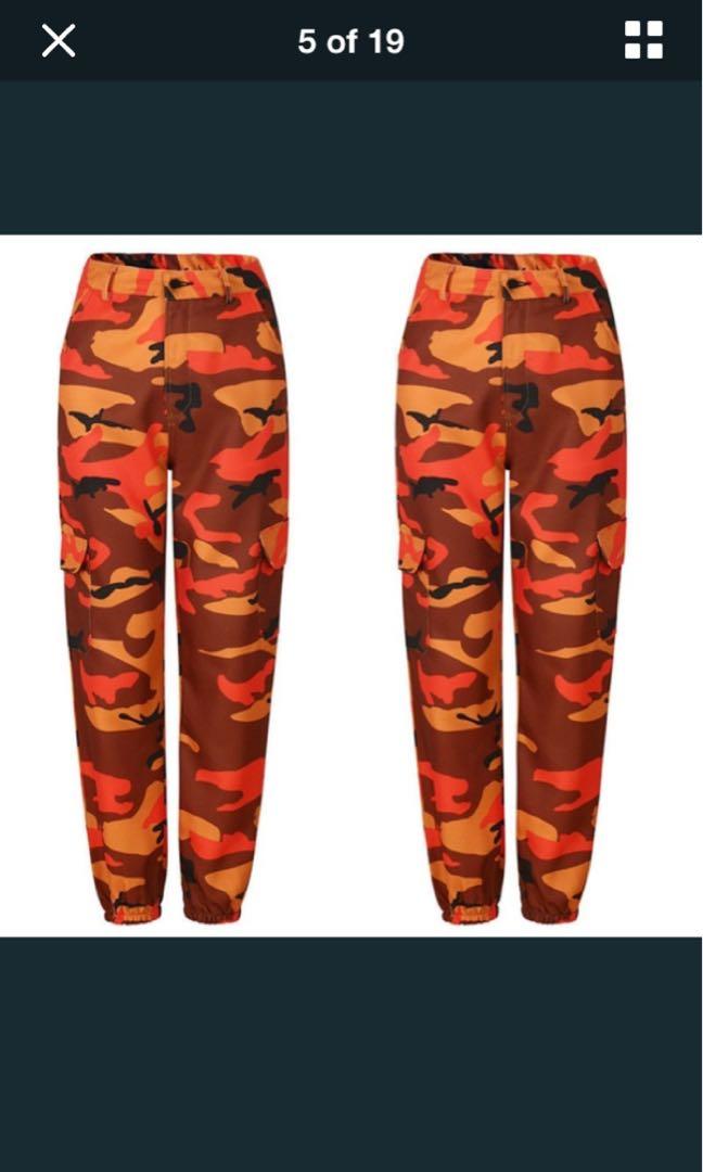 Orange Cargo Pants