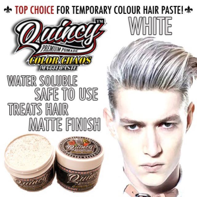 Quincy Color Chaos Temporary Color Styling Matte Paste White Light