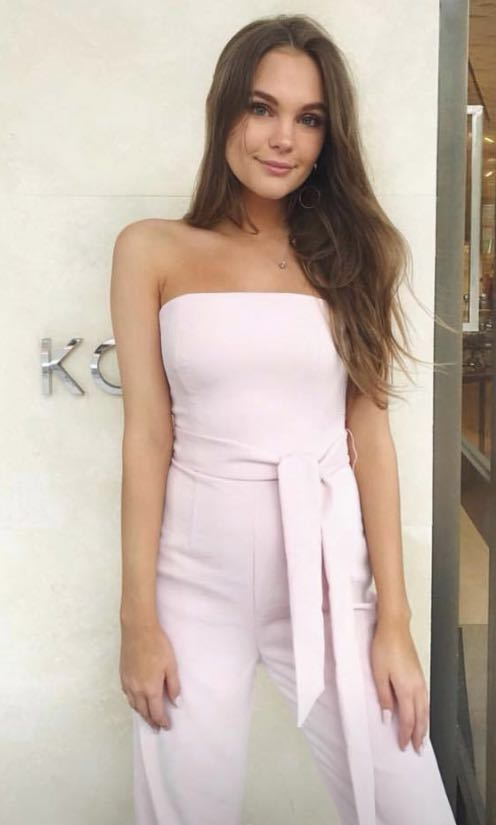 RENT OR BUY: Kookai oyster jumpsuit in pink