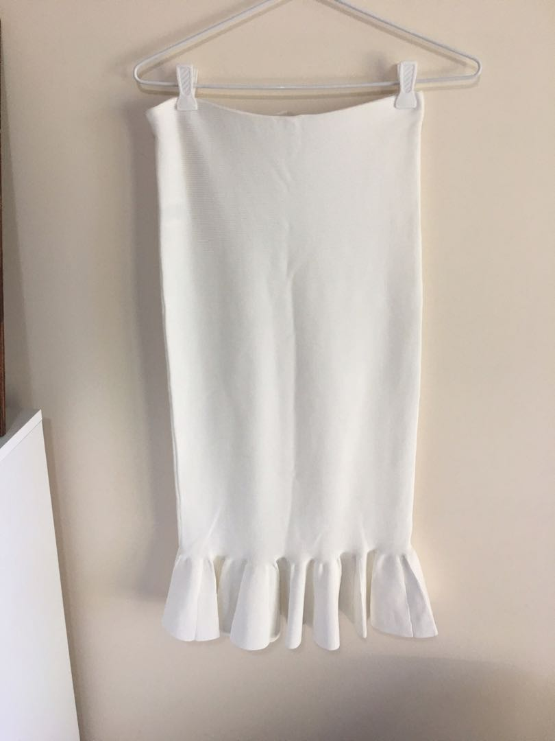 Seed Heritage White Flute Skirt - New with Tags - Size XS
