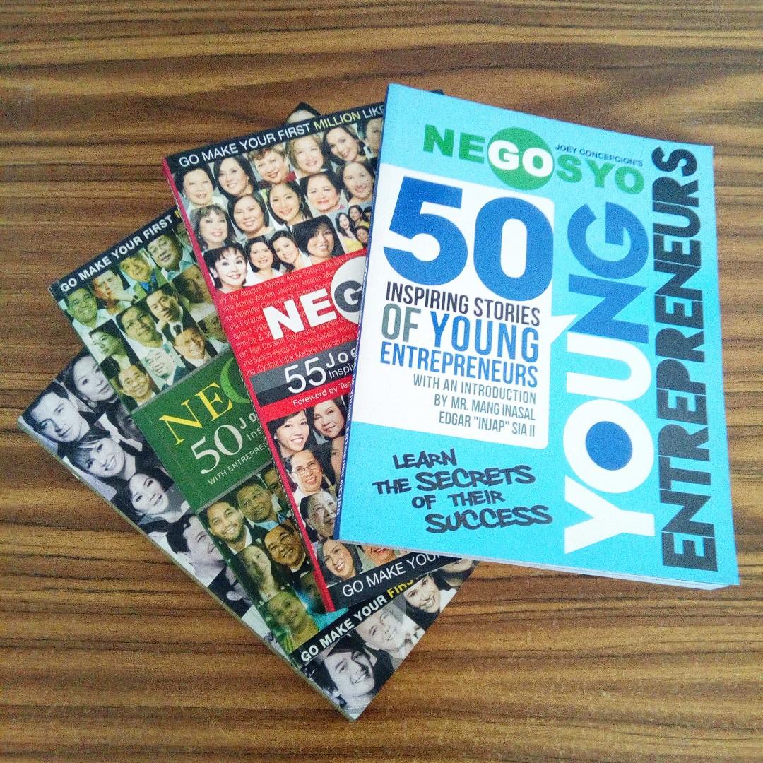 Set of 4 Go Negosyo Business Books