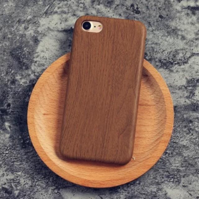 5f5154810a Slim Dark Brown Wood iPhone X 8 7 6 Plus Case Art iPhone Case Wooden ...