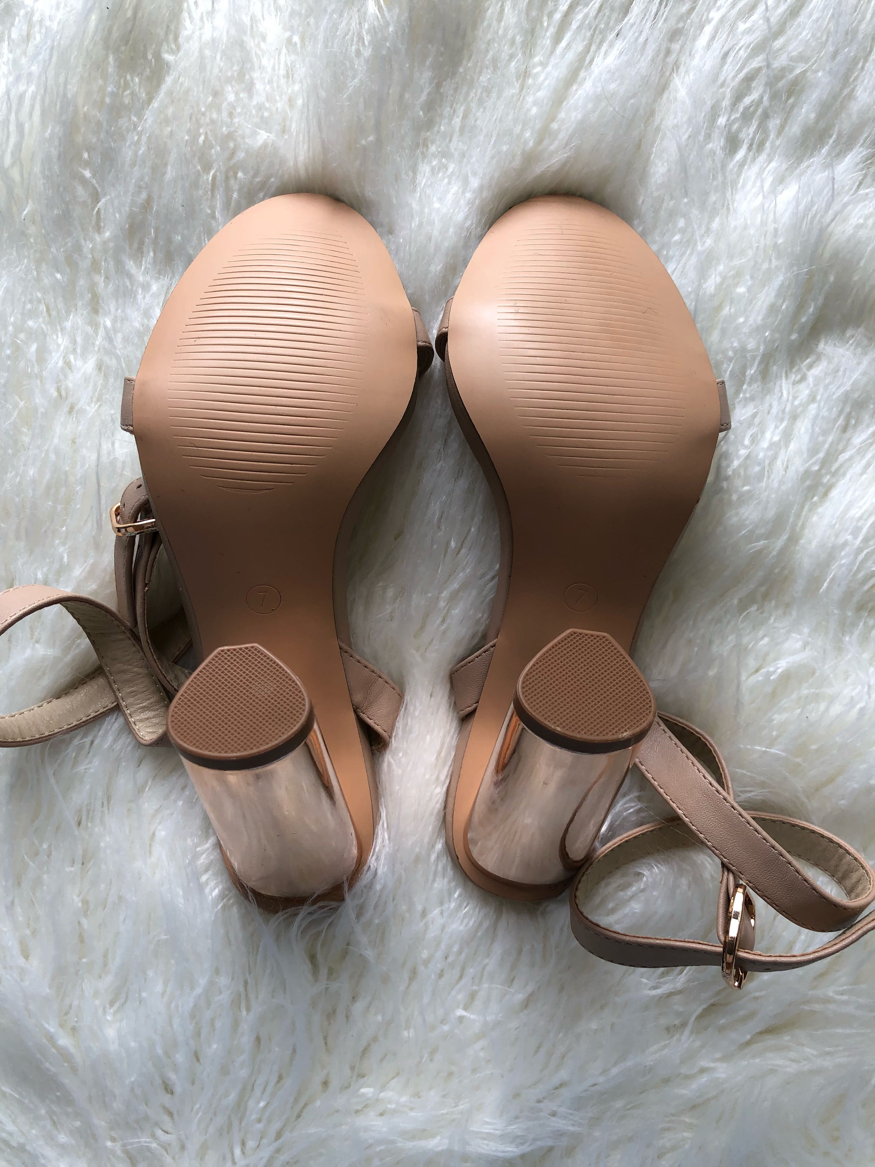Spurr - Rose Gold Chrome Heels