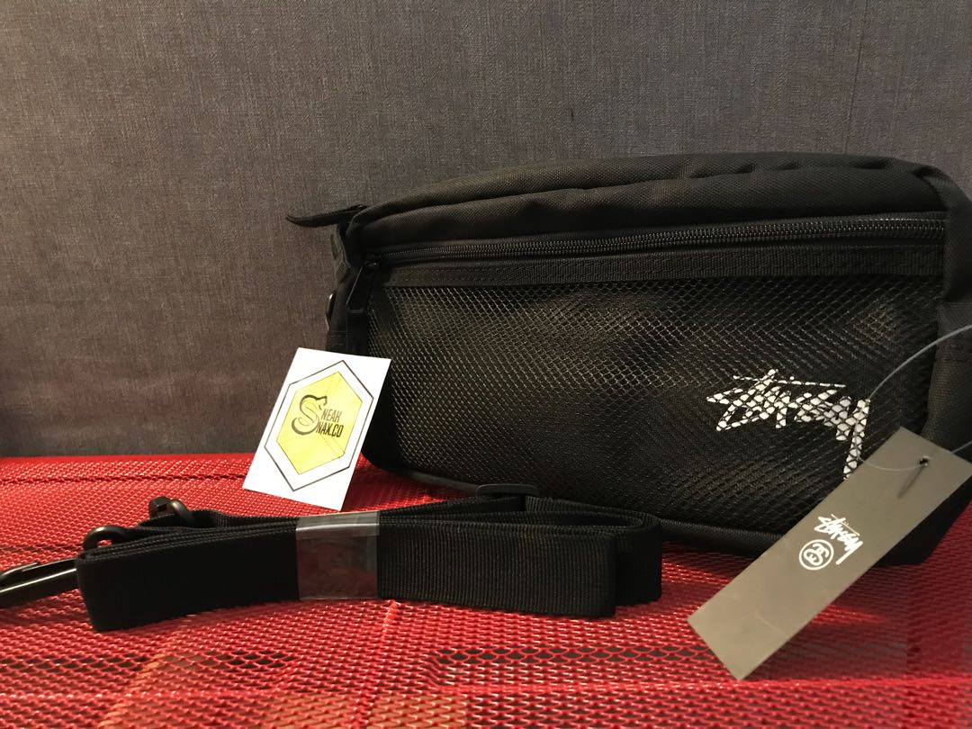 fa27a43b Stussy stock side bag black, Men's Fashion, Men's Bags & Wallets on  Carousell