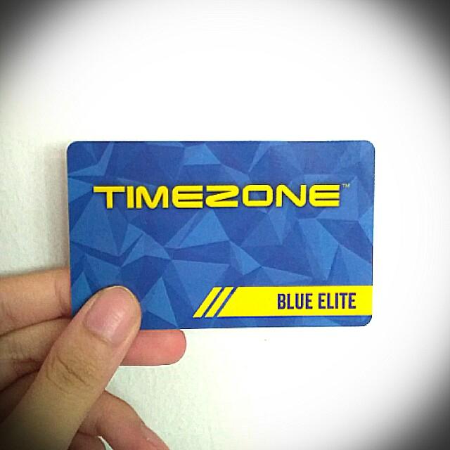 Timezone Blue Elite card