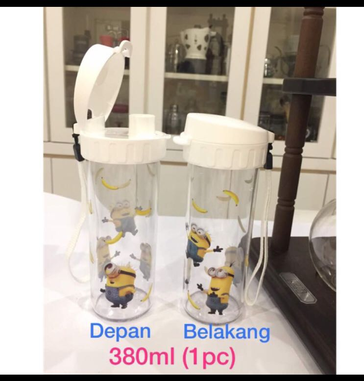 tupperware minion drinking flask kitchen appliances on carousell