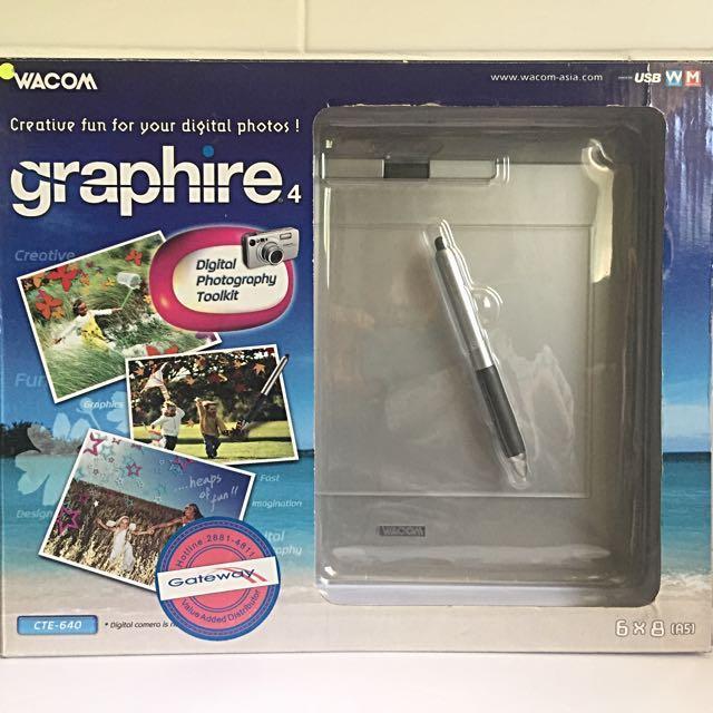 Wacom Intuos Graphire4 CTE-640S 6x8 Pen & Tablet Set