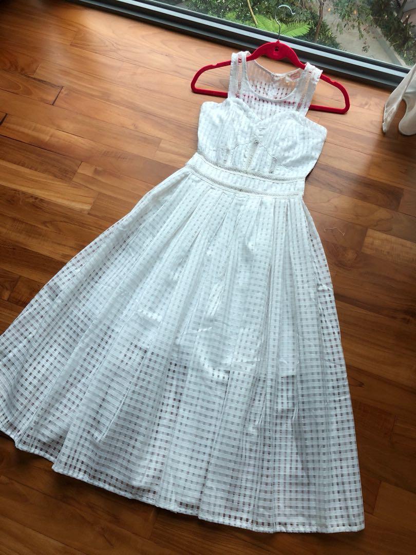 White netted dress