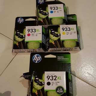 HP officejet ink cartridge. 932xl and 933xl