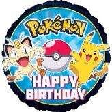 Pokémon - pikachu and friend  happy birthday helium balloon