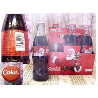 可口可樂14年美國一pack六枝聖誕紀念玻璃樽