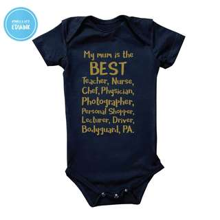 Custom Baby Romper - to honour Mums - The hardest occupation