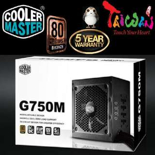 Cooler Master G750M 750W Hybrid Modular Power Supply..