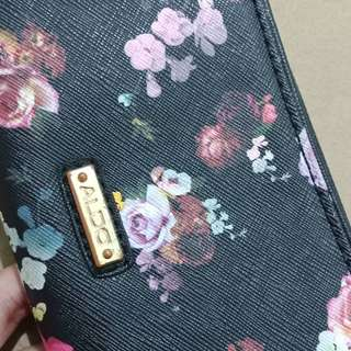 Authentic Floral Wallet witb Strap