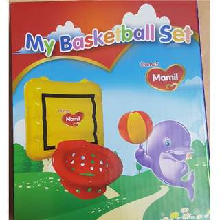 Inflatable basketball set with ball - Brand New in Sealed Box