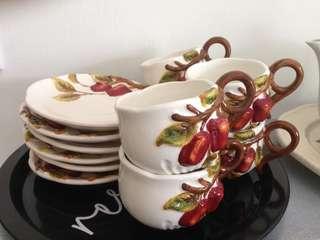 cup/saucer 3D fruit