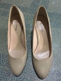 Beige Shoes, Used Twice, No Box