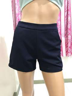 "27"" High Waist Shorts Dark Blue"