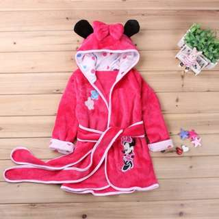 $18 Tampines Brand New Kids Girl Bathrobe Pink Minnie Mouse 4-6 Years Old