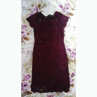 M Urban Planet Purple Lace Dress