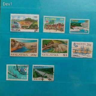 Set of 8 Malaysia stamps, 1979/94