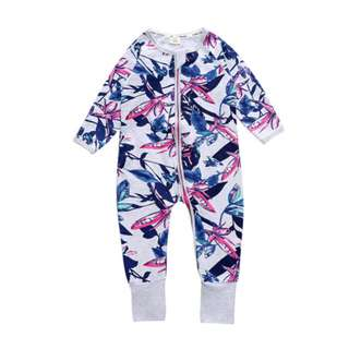 (PRE-ORDER) STYLISH INFANT PRINT ROMPER LONG SLEEVE JUMPSUIT