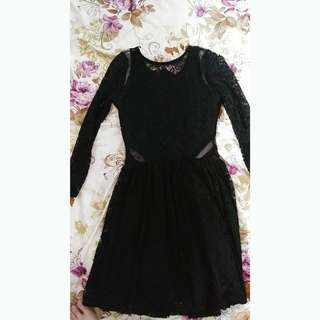 S Abercrombie & Fitch Black Lace Dress