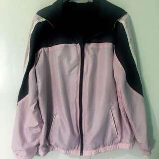 Pink and Black Reversible Windbreaker Jacket