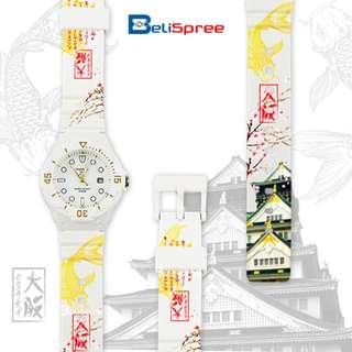 Brand New Casio LRW-200H Osaka Castle Custom Design Japan Edition Date Display Diver Analog Resin Watch